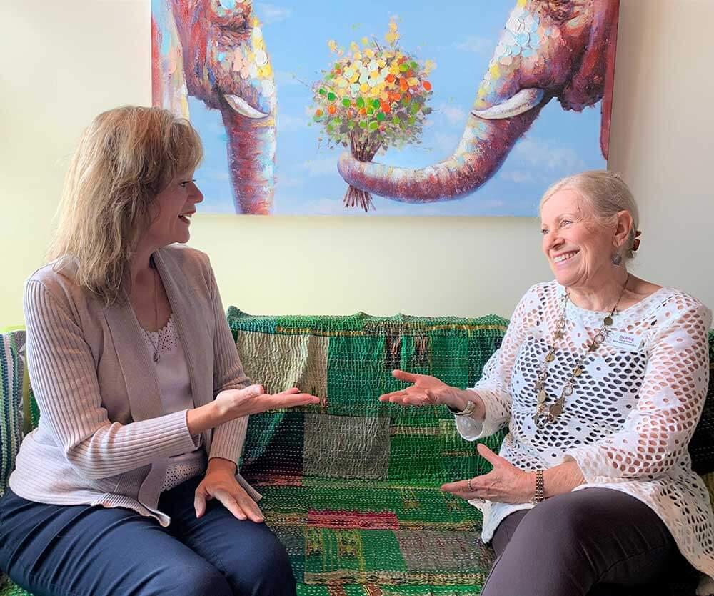 life coaching between two women