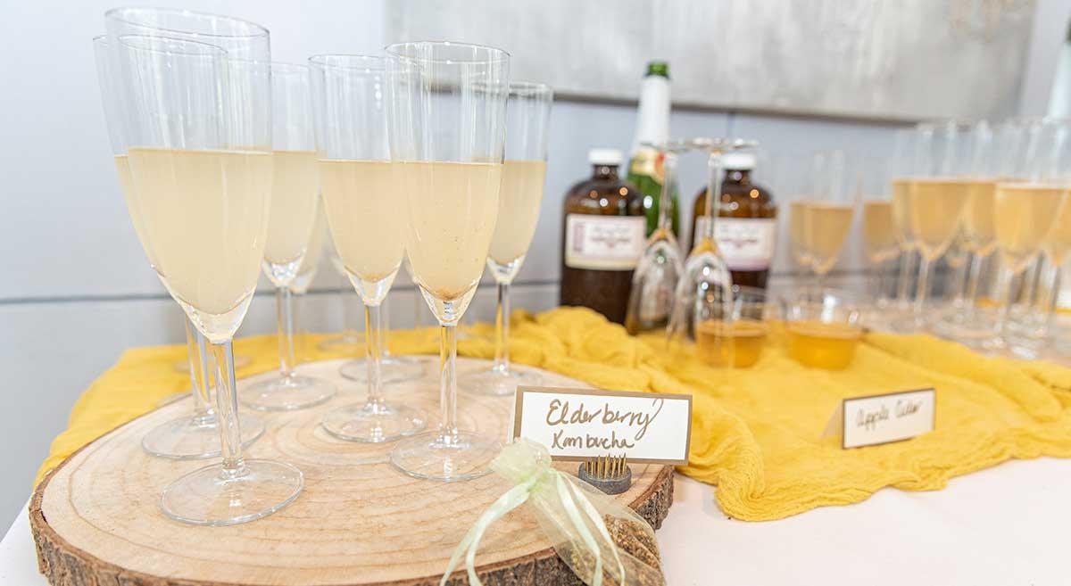 wedding elderberry champagne
