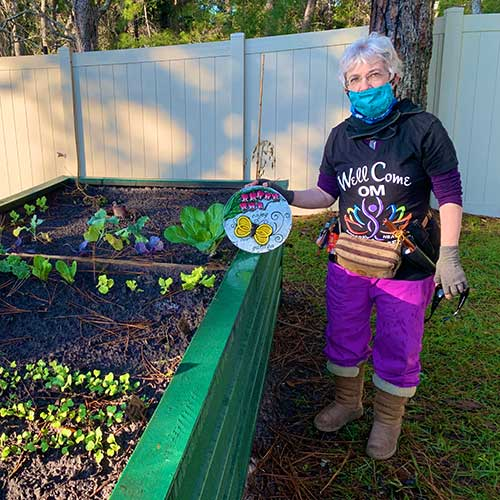 woman at community garden